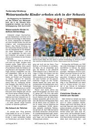 Weissrussische Kinder erholen sich in der Schweiz