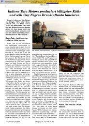 Indiens Tata Motors produziert billigsten Käfer und will Guy Nègres ...