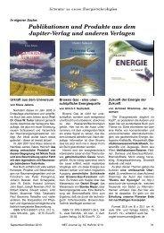 Publikationen und Produkte aus dem Jupiter-Verlag und anderen ...