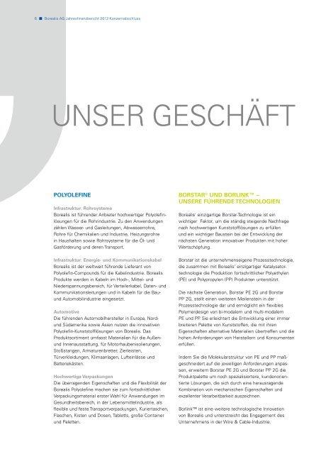 Borealis Annual Report 2012