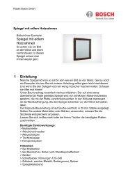 Spiegel mit edlem Holzrahmen 1 Einleitung - Bosch