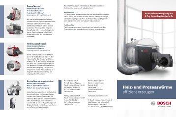 Heiz- und Prozesswärme effizient erzeugen - Bosch Industriekessel ...