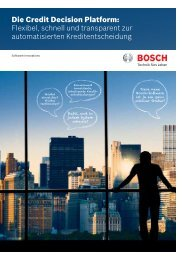 Die Credit Decision Platform - Bosch Software Innovations