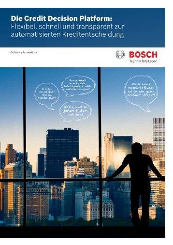 Die Credit Decision Platform - Bosch Software Innovations