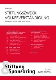 Stiftung & Sponsoring – Rote Seiten (PDF) ... guNg - Robert Bosch ...