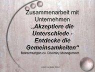 Diversity Management - Robert Bosch Stiftung
