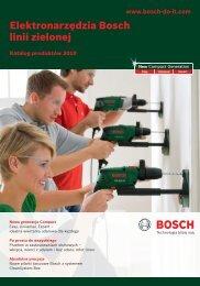 Elektronarzędzia Bosch linii zielonej