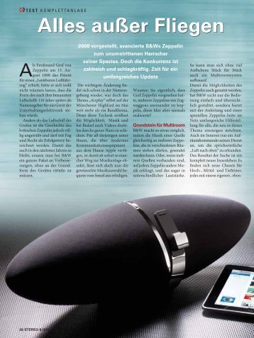 STEREO 08/2011 als Download - Bowers & Wilkins