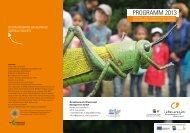 Programm 2013 - Biosphärenpark Wienerwald