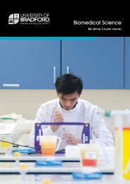 UG Biomedical Science course booklet - University of Bradford