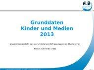 Grunddaten Kinder und Medien 2013