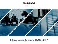 Präsentation auf der Bilanzpressekonferenz am 27.03 ... - brain force