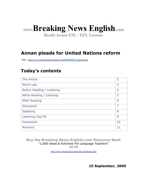 PDF Doc - Breaking News English