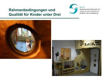 Rahmenbedingungen zur Betreuung von Kindern unter drei Jahren