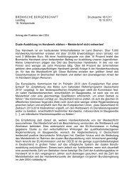 Duale Ausbildung im Handwerk stärken - Meisterbrief nicht entwerten!