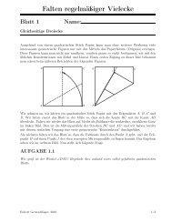 Falten regelmäßiger Vielecke (pdf) - AM BRG Kepler