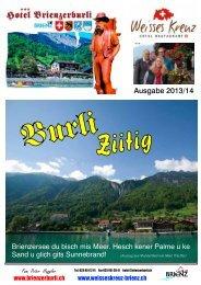 Ausgabe 2013/14 - Hotel Brienzerburli