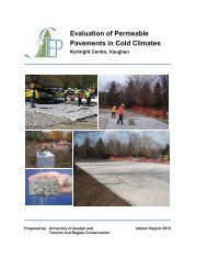 Evaluation of Permeable Pavements in Cold Climates - Brown's ...