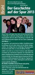 Führungstermine 2013/2014 in der Gesamtübersicht - Stadt Brühl