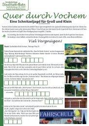 Suchspiel Quer durch Vochem - Stadt Brühl