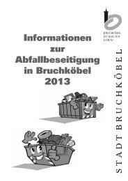 Abfallinformation 2013 - Stadt Bruchköbel