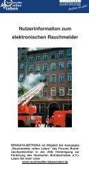Nutzerinformation Rauchmelder - BRUNATA Hamburg
