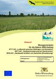 Managementplan für die Natura 2000-Gebiete Entwurf - Bruchsal