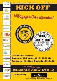 Programmheft - BSC Freiberg