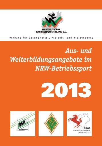 Bildungsplan 2012 - Betriebssport-Verband Münster