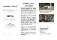 Wasserfallen für Amphibien - Biologische Station Westliches ...