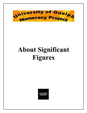 About Significant Figures