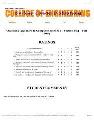 RATINGS STUDENT COMMENTS - Computer Science