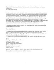 ENGL 4375 -- Literature and Popular Culture -- Dr Yongue