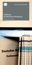Petitionen im Deutschen Bundestag - Deutscher Bundestag