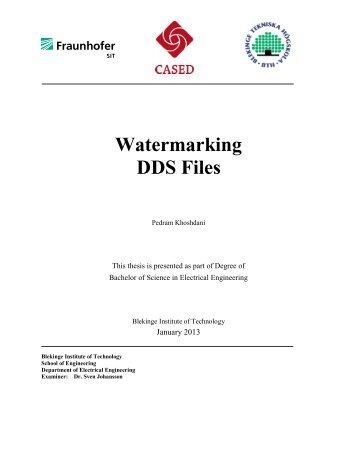 Watermarking DDS Files