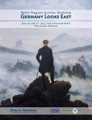 Germany Looks East Berlin Program