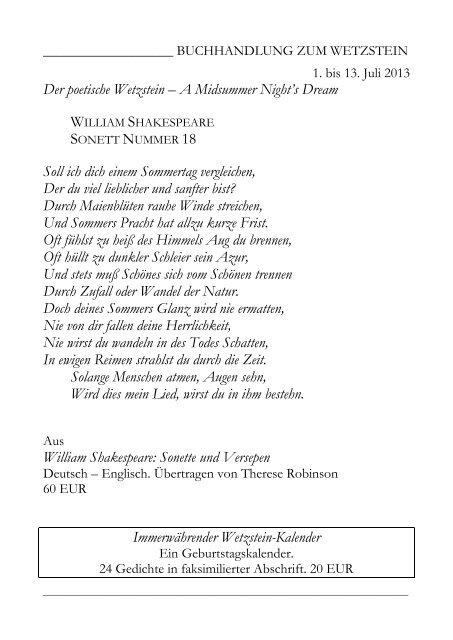 Der Poetische Wetzstein A Midsummer Nights Dream Soll Ich