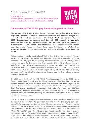 Download Presseaussendung Kurzfassung.pdf - Buch Wien