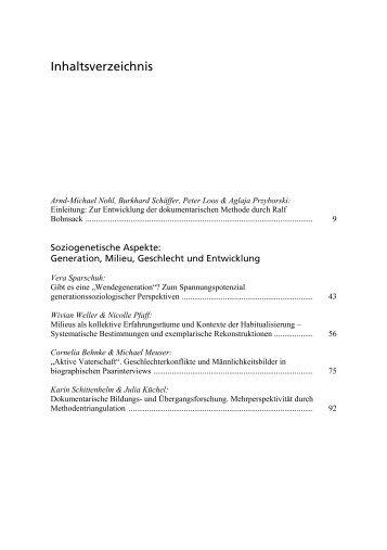 Inhaltsverzeichnis - Budrich
