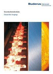 Broschüre Gesenkschminde - Buderus Edelstahl GmbH