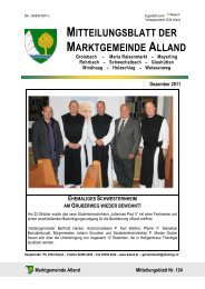 Marktgemeinde Alland Dezember 2011 / Nr. 124 Seite 2