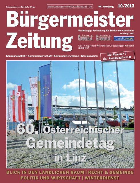 Ausgabe 10/2013 - Bürgermeister Zeitung