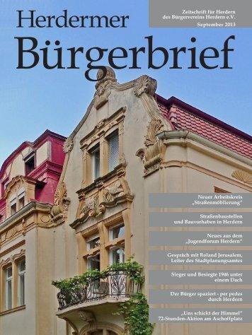 HBB 09/2013 - Bürgerverein Herdern