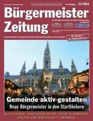 Ausgabe 11/2013 - Bürgermeister Zeitung