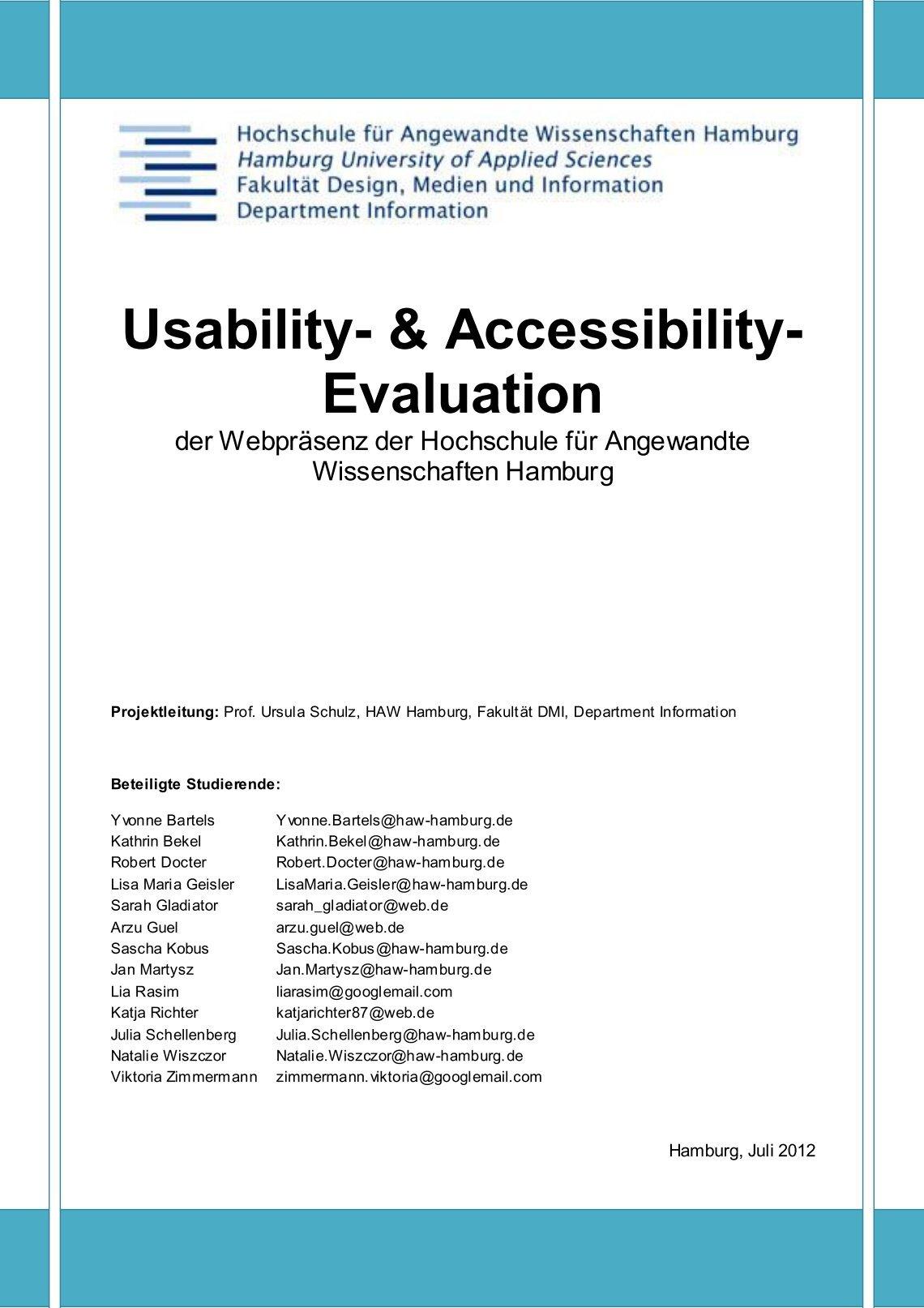 Ziemlich Usability Berichtsvorlage Bilder - Dokumentationsvorlage ...