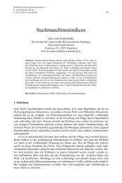 Suchmaschinen-Indices - HAW Hamburg