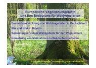 Europäische Vogelschutzgebiete und die Bedeutung für ...