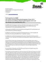 BUND-Stellungnahme zum NEP 2013