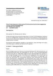 Änderung des EG-Verbraucherschutzdurchsetzungsgesetzes und ...