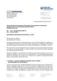 BdV-Stellungnahme BaFin-Satzung - Bund der Versicherten e.V.